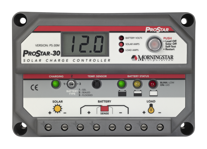 MORNINGSTAR PROSTAR PS-30M LCD 12-24V